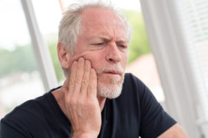 Man with jaw pain