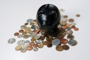 Piggy bank representing a dental savings plan.